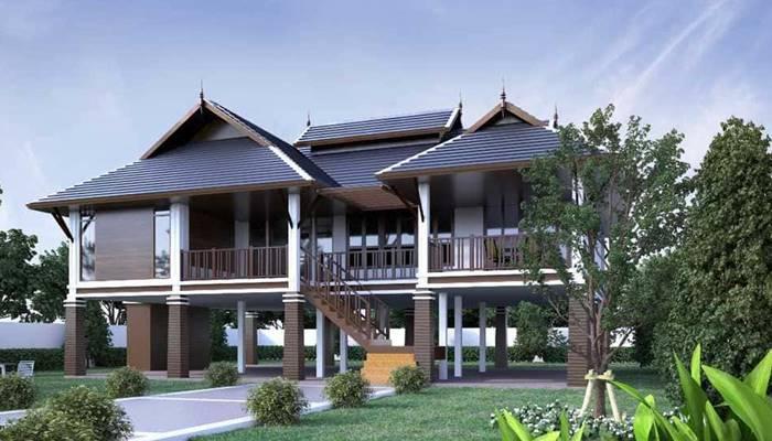 บ้านทรงไทยประยุกต์ ตามความเป็นไทย